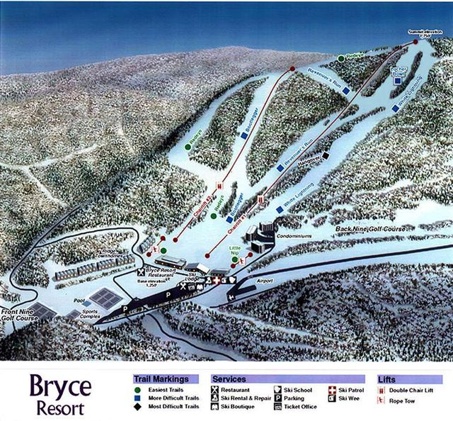Bryce Trail Map